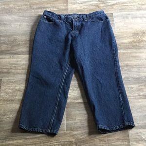 Riveted by Lee blue denim jeans capris